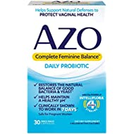 AZO Complete Feminine Balance Daily Probiotics for Women | 30 Count | Clinically Proven to Help Protect Vaginal Health | Clinically Shown to Work in 7 Days*