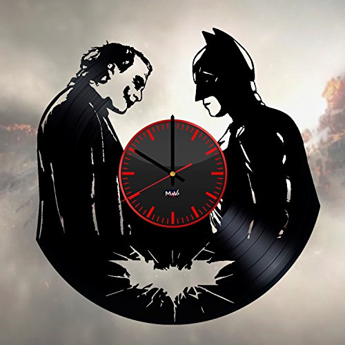 Mark Hamill Joker Costume (Batman Joker Vinyl Record Wall Clock Gift For Fans Great Idea Home Decor DC Comics Vintage Decoration - Buy gift for everybody)