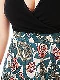 JayJay Women Vintage Casual Flower Print Stretchy