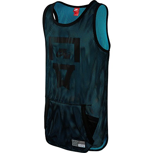 Nike Air Pivot Mesh Men's Jersey Tank Top Black/Omega Blue 743286-013 (Size L)