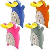 Tea Infusers for Loose Leaf Tea, FineGood Set of 4 Pack Platypus Silicone Tea Filter Strainers
