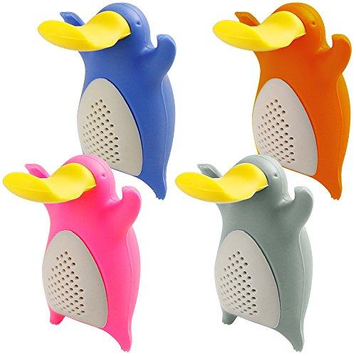 Infusores de te para el te de hoja suelta, FineGood conjunto 4 Pack Platypus Filtros filtro te silicona