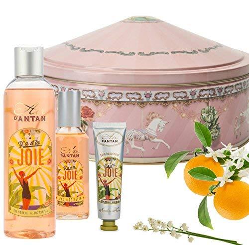 Conjunto de Regalo Belleza Francesa JOIE, Lirio de los Valles, Azahar y Rosa. Una adorable caja de estilo retro. El regalo...