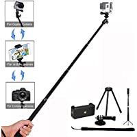 GoPro Cameras Selfie Stick,Aevdor Extendable Monopod with Tripod Stand Selfie Stick for GoPro Hero 5/4/3+/3/2/1/Session