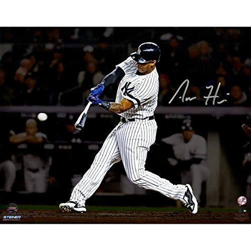 Aaron Hicks New York Yankees Autographed Signed 'Hitting' 8x10 Photo