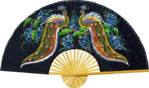 Folding Wall Fan -- Meeting of the Peacocks -- Original