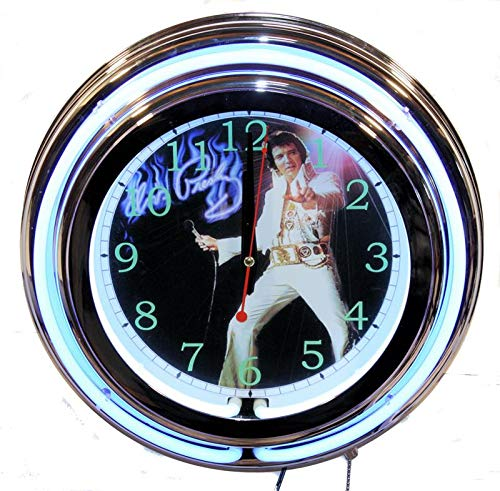 Lifestyle Lighting Elvis Presley Double Neon Clock