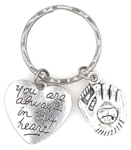 You Are Always in My Heart Baseball Softball Mitt Glove Keychain 110K (Sox Heart)