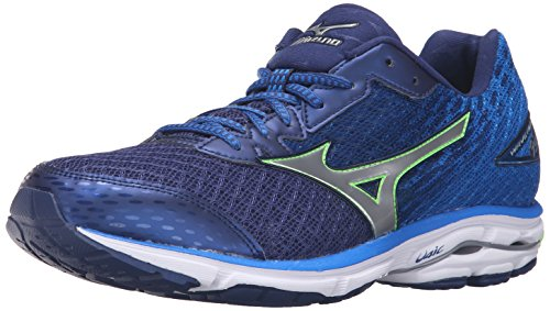 mizuno-mens-wave-rider-19-running-shoe-twilight-blue-green-gecko-silver-11-d-us