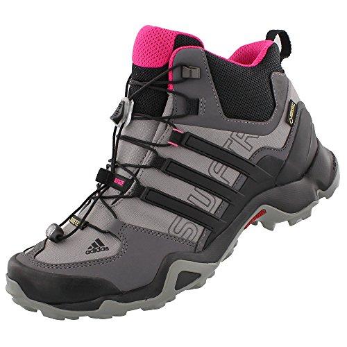 adidas Terrex Swift R Mid GTX® zapatillas para mujer para actividades al aire libre, Shock Pink, Granite, Black, 5 B(M) US