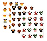 60 Fall / Winter Holiday Mouseketeers Theme Nail Art Decals ( Halloween, Thanksgiving, Christmas)