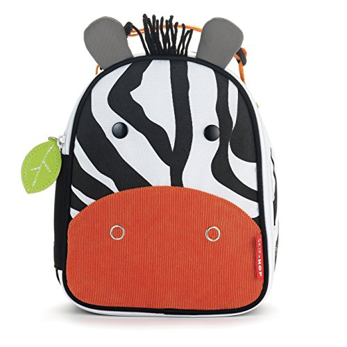 Skip Hop Baby Zoo Little Kid and Toddler Insulated and Water-Resistant Lunch Bag, Multi Zax Zebra