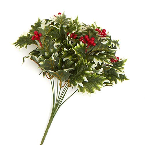 (Factory Direct Craft Variegated Artificial Holly Bush)