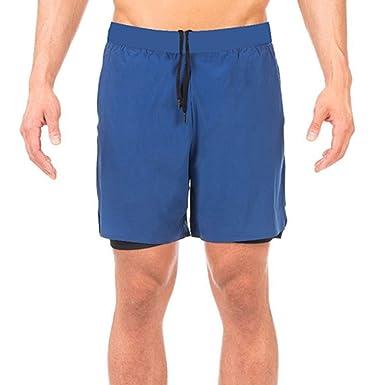 Geilisungren Pantalones Cortos Playa para Bañador de Natación ...