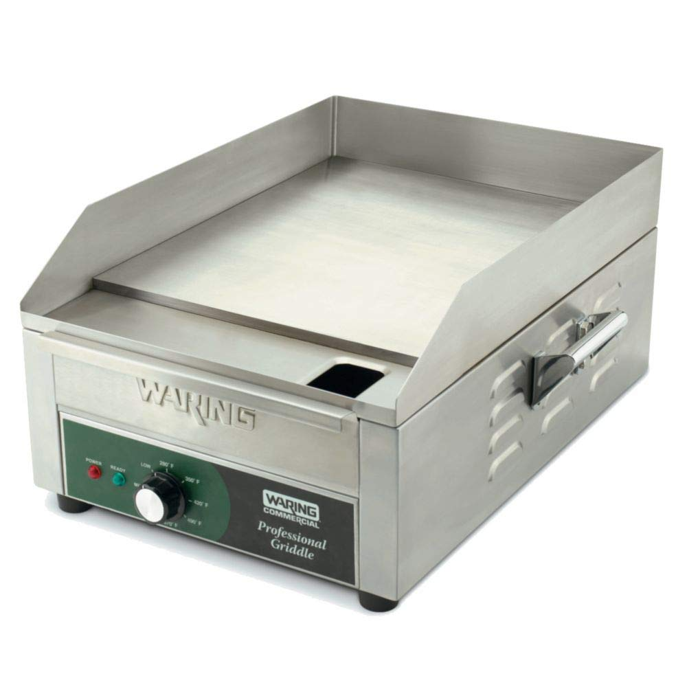 """Aluminum 14"""" Countertop Griddle 120V Waring Commercial WGR140X"""