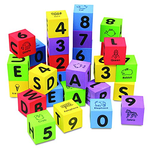 Chenille Kraft 4416 WonderFoam Learning Blocks, Assorted (Set of 30 ()