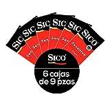 Kit 54 Condones 6 Cajas Sensitive Latex 9Pzas c/u Sico