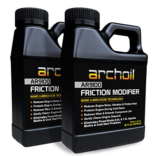 Archoil AR9100 Friction Modifier VALUE PACK - TWO 16oz Bottles of AR9100 for TWO PowerStroke Treatments (Inc Archoil)