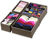 Simple Houseware Closet Underwear Organizer Drawer Divider 4 Set