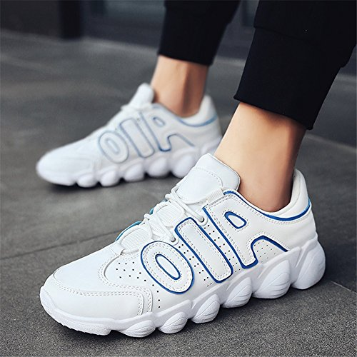39 Spring Youth Mens White HUAN Shoes Breathable Casual Shoes Black Size Running Slip Sneakers Men's Shoes Non Lightweight Tulle Color Travel Fall Red White q44wgEC