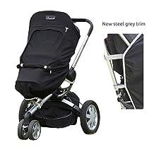 SnoozeShade Plus 5-in-1 Universal Stroller UV Cover/Baby Sunshade Blocks 99% UV