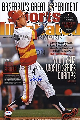 George Springer Sports Illustrated Autograph Replica Poster