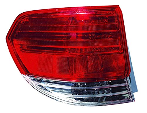 Outer Light 08 Tail (Outer Taillight Taillamp Brake Light Left Driver Side Rear for 08-10 Odyssey)