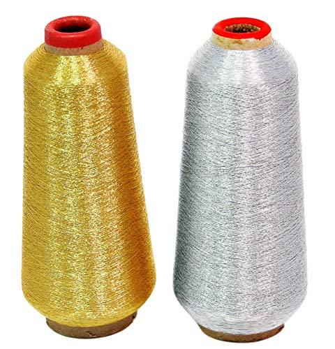 ThreadNanny Gold & Silver Metallic Machine Embroidery Thread