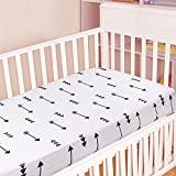 """Kyapoo Crib Sheets 100% Organic Cotton Arrows Unisex Bedding Style For Toddler Girl & Boy - Baby Bed Mattress Protector - Jersey Cotton crib Mattress Covers Hypoallergenic Breathable 52""""x28"""""""