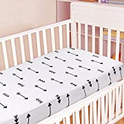Kyapoo Crib Sheets 100% Cotton Arrows Unisex Bedding Style For Toddler Girl & Boy - Baby Bed Mattress Protector - Crib Mattress Covers Hypoallergenic Breathable 52 x28