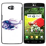 Plastic Shell Protective Case Cover || LG G Pro Lite / D680 D682TR || Xray Fish Skeleton Art @XPTECH