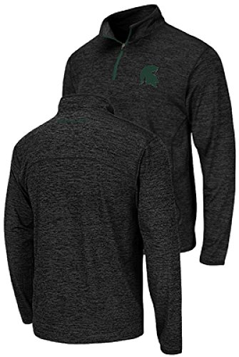 - Colosseum Michigan State Spartans Charcoal Heather Action Pass 1/4 Pullover Synthetic Windshirt (X-Large)