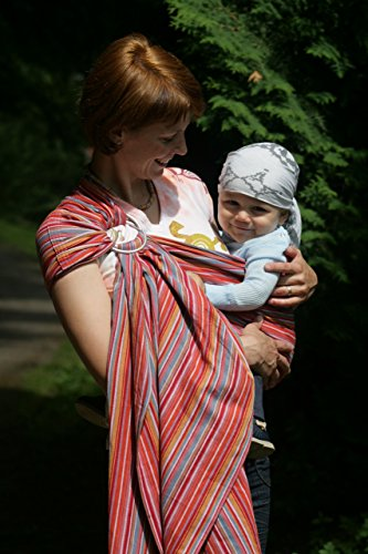 Storchenwiege Ring Sling 100 Woven Cotton Baby Carrier One Size Fits All From Germany Lilly