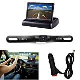 "Backup Camera and Monitor Kit, Podofo Foldable 4.3""Color LCD TFT Rearview Monitor with Waterproof Vehicle Car Rear View Backup License Plate Camera"