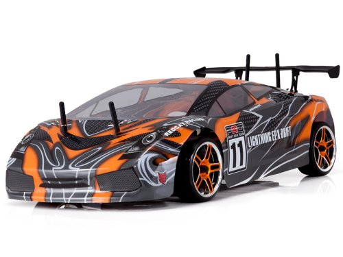 Redcat Racing Lightning EPX Electric Drift Car, Orange/Black, 1/10 Scale