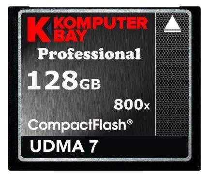 KOMPUTERBAY 128GB Professional COMPACT FLASH CARD CF 800X WRITE 75MB/s READ 120MB/s Extreme Speed UDMA 7 RAW 128 GB