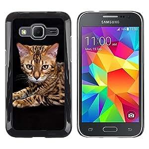 TopCaseStore / la caja del caucho duro de la cubierta de protección de la piel - Toyger Ocicat Bengal Serengeti Cat - Samsung Galaxy Core Prime SM-G360