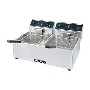 Empura Commercial Deep Fryer 30 lb. Dual Tank Electric Countertop Fryer - 120V