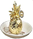48 Warm Welcome Ceramic Pineapple Themed Ring and Jewelry Holders