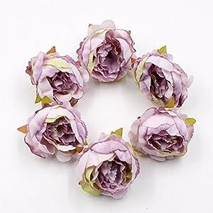 15pcs/lot 5cm Peony Flower Head Silk Artificial Flower Wedding Decoration DIY Garland Scrapbook Gift Box Flower 5