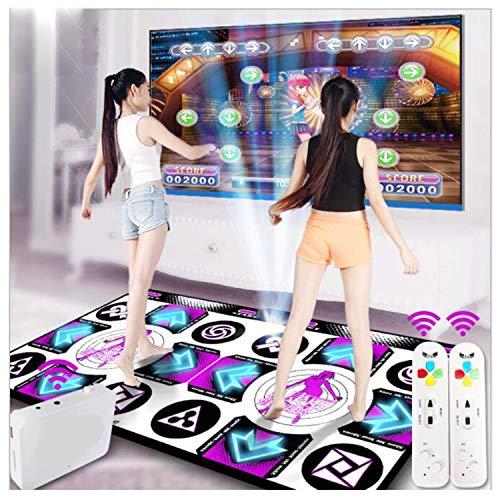 XULONG LED Wireless Double Dance Mats,Foam Play Mat Thickening Soundproofing Soft Dance Mats for Adults/Children HD TV Computer Dual-use English Manual