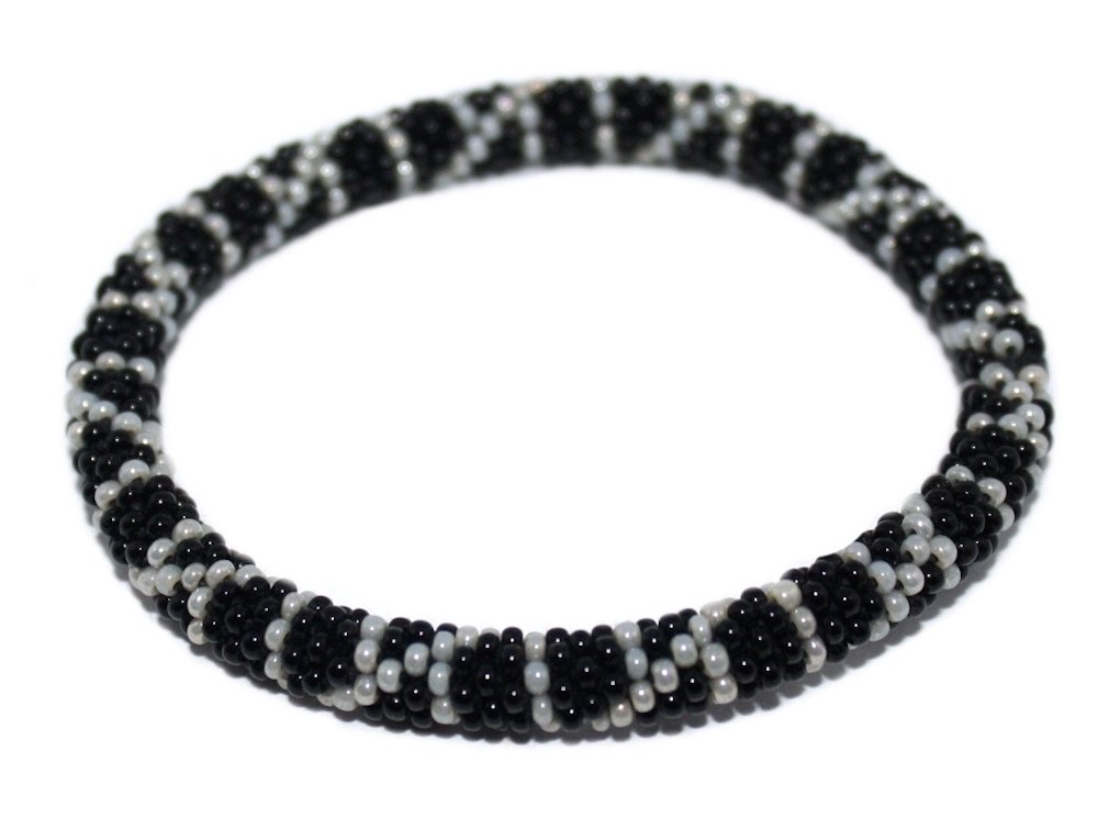 Wholesale 6 Crochet Glass Seed Bead Bracelet Roll on Bracelet, Nepal Bracelet