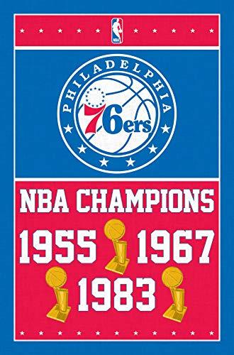 Philadelphia 76ers-Champions 15 Mount Bundle Wall Poster 22.375