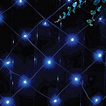New 105 blue led solar powered net lights outdoor garden string new 105 blue led solar powered net lights outdoor garden string fairy curtain shopmonk workwithnaturefo
