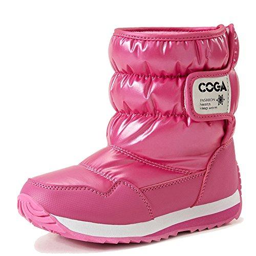 Oderola Unisex-Kinder Warm gefütterte Schneestiefel Mädchen Schlupfstiefel Gepolsterten Schuhe wasserdicht Boots Sneaker