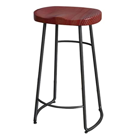 Brilliant Amazon Com 29 5 Inch Metal Leg Bar Stool Pub Solid Wood Ibusinesslaw Wood Chair Design Ideas Ibusinesslaworg