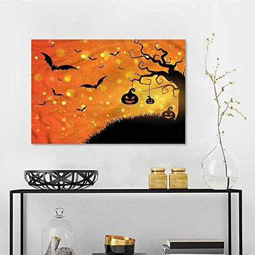 one1love Halloween DIY Oil Painting Fantasy Evil Night Icons for Living Room,Dinning Room, Bedroom W23 -