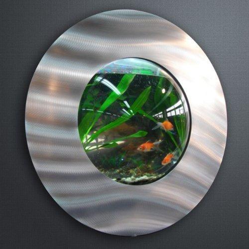 WATERSTYL - DECW-224 - Aquarium Mural rond Brossé Alu - Design ...