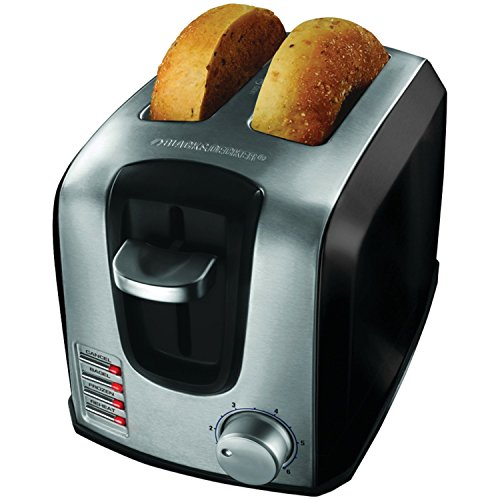 BLACK+DECKER T2707SB 2-Slice Toaster, Bagel Toaster, - Toaster Slice Decker Black And 2
