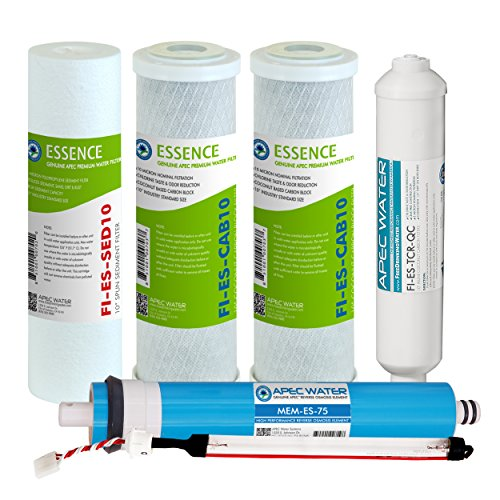 APEC Water Systems Eliminate-MAX-ESUV 75 GPD Complete Replacement Filter Set For Essence Series UV Reverse Osmosis Water Filter System